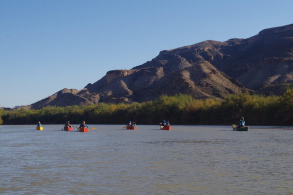 Group paddling away